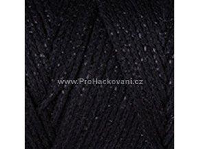 Macrame Cotton Lurex 722 černá s lesklou nitkou