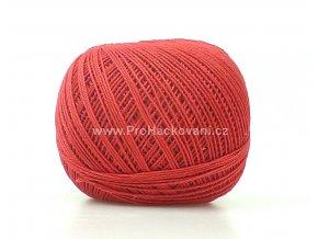 Háčkovací příze Sněhurka 3384 matná červená