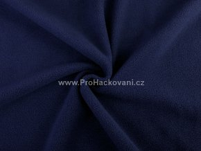 Látka fleece temně modrá