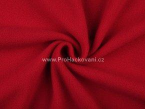 latka fleece tmave cervena
