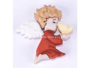 Knoflík exclusive Anděl klečící s motýlem