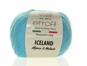 příze Iceland 1014 světlý tyrkys