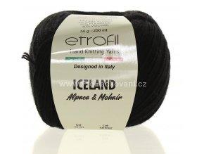 příze Iceland 91191 černá