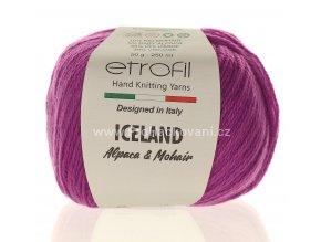 příze Iceland 70614 azalkově fialová