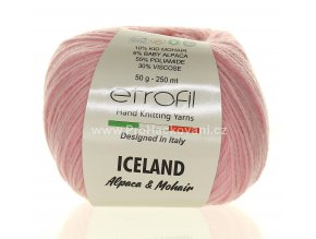 příze Iceland 4060 světle růžová