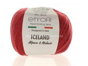 příze Iceland 70335 matná červená