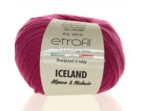 příze Iceland 6093 fuchsiově fialková