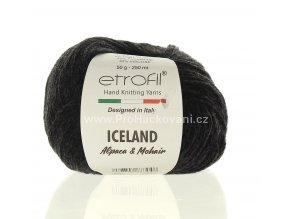 příze Iceland 5040 antracitový melír