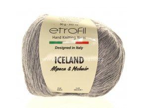 příze Iceland 6005 světle šedý melír