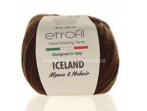 příze Iceland 70708 čokoládově hnědá