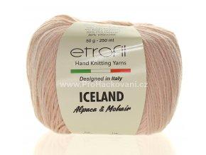příze Iceland 1010 pudrově růžová