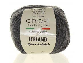 příze Iceland 6091 šedý melír