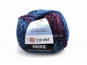 příze Pacific 302 vínová, růžová, modrá