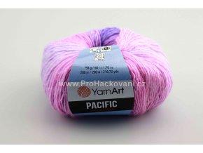 příze Pacific 306 variace růžové a fialkové