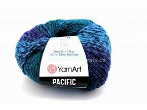 příze Pacific 304 zelená, modrá, fialová