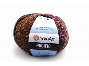 příze Pacific 307 hnědá a fialová