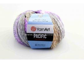 příze Pacific 308 fialková, šedá, krémová