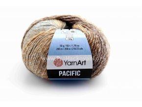 příze Pacific 311 béžová, hnědá, šedá