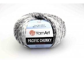 příze Pacific Chunky 300 variace šedé