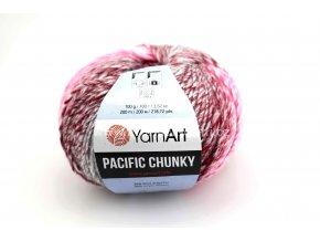 příze Pacific Chunky 310 růžová, vínová, šedá