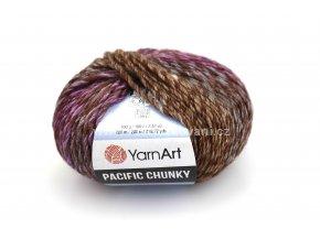 příze Pacific Chunky 307 hnědá a fialová