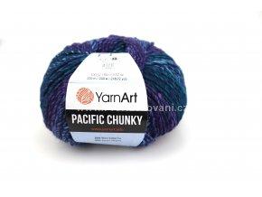 příze Pacific Chunky 304 zelená, modrá, fialová