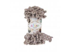 příze Puffy 268 fialkově hnědošedá