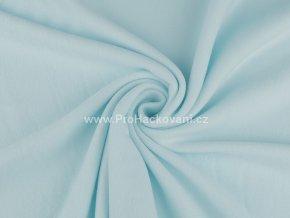 latka fleece jemna tyrkys modra