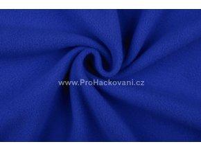 Látka fleece královská modrá