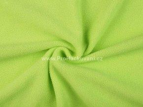 Látka fleece jemná zelená