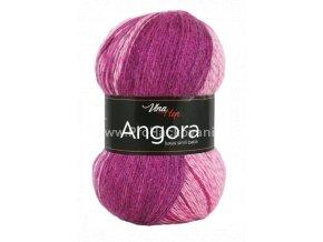 příze Angora Luxus Simli Batik 5720 růžová a fuchsiově fialová