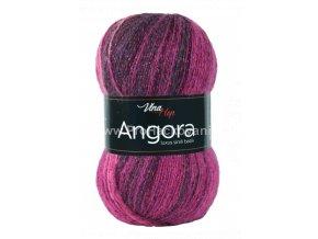 příze Angora Luxus Simli Batik 5723 fuchsiová, fialová, smetanová