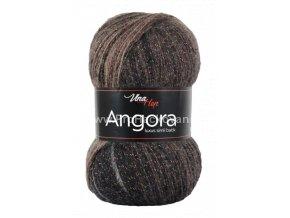 příze Angora Luxus Simli Batik 5724 hnědá, šedá, smetanová
