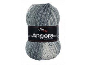příze Angora Luxus Simli Batik 5725 odstíny šedé a černá