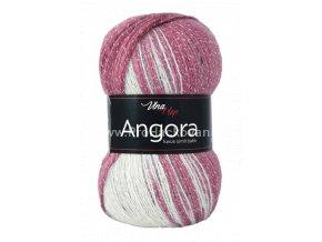 příze Angora Luxus Simli Batik 5726 odstíny starorůžové, smetanová, šedá