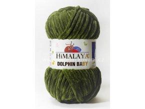 příze Dolphin Baby 80361 olivově zelená
