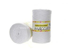 Cotton Macrame Maccaroni 02-401 bílá