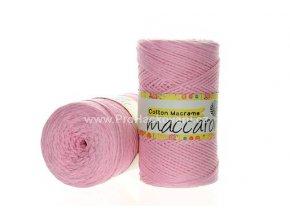 Cotton Macrame Maccaroni 04 světle růžová