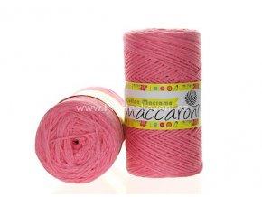 Cotton Macrame Maccaroni 05 růžové