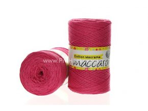Cotton Macrame Maccaroni 06 fuchsiové