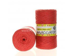Cotton Macrame Maccaroni 42 růžově lososové