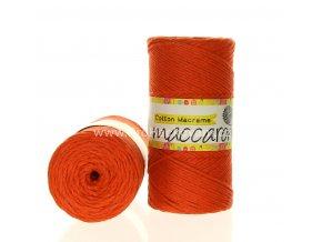 Cotton Macrame Maccaroni 52 cihlová
