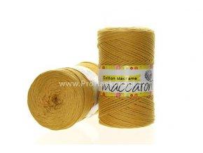 Cotton Macrame Maccaroni 40 hořčicové