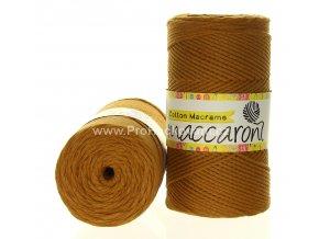 Cotton Macrame Maccaroni 54-305 medově hnědé