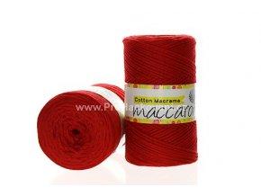 Cotton Macrame Maccaroni 16 červená