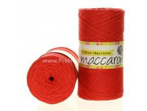 Cotton Macrame Maccaroni 18-603 červený meloun