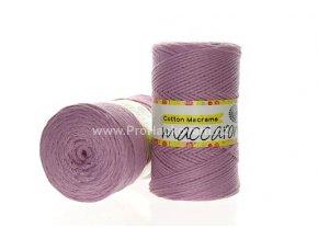 Cotton Macrame Maccaroni 26 fialková lila