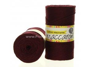 Cotton Macrame Maccaroni 58-806 fialově vínová