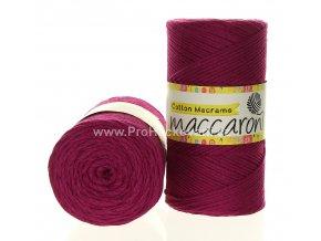 Cotton Macrame Maccaroni 27-506 fuchsiově fialové