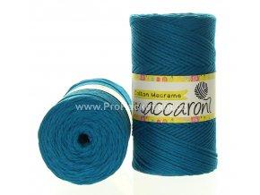 Cotton Macrame Maccaroni 59-602 petrol tyrkysové